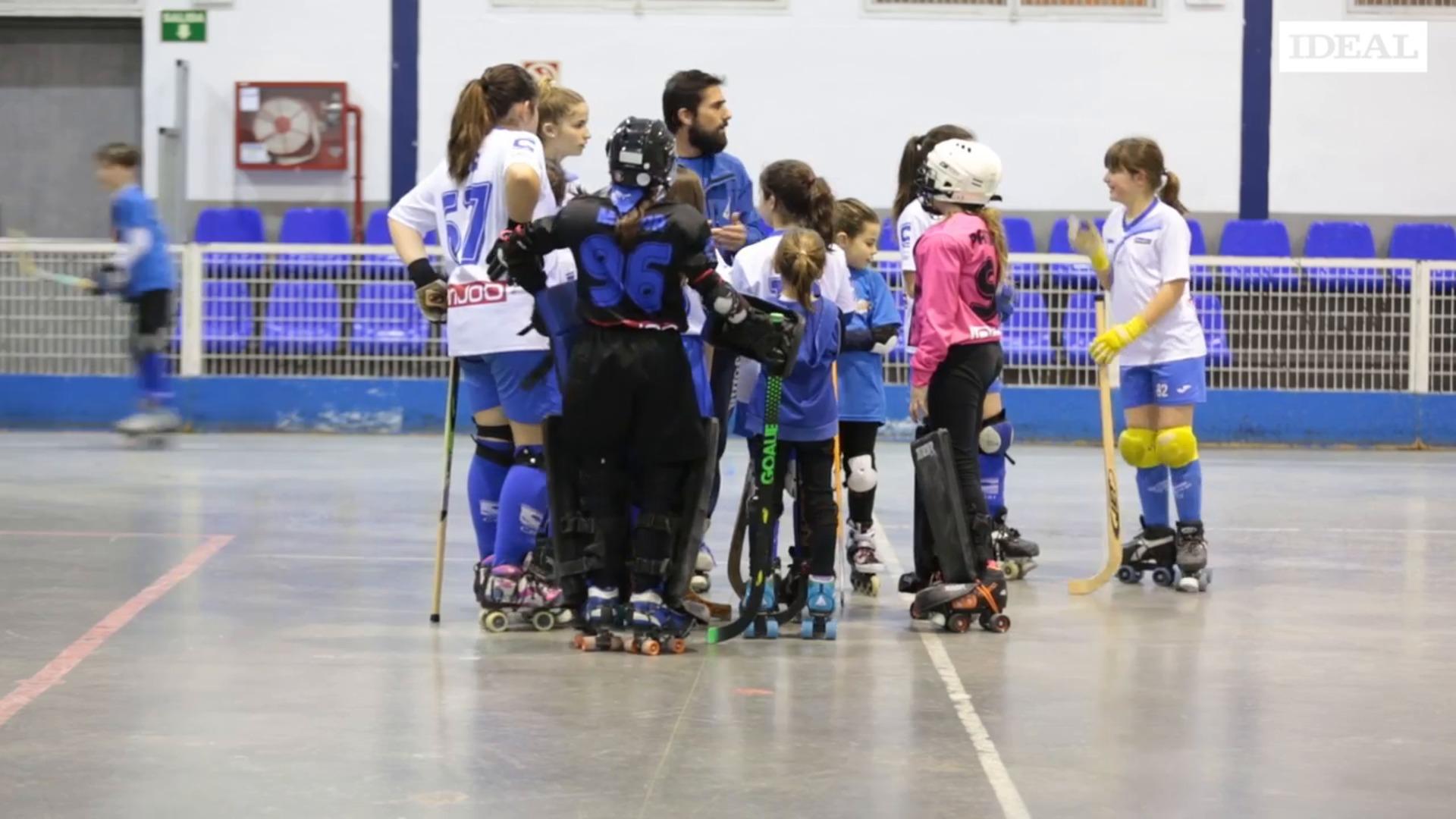 María Muñoz y Paula Rodríguez: campeonas del club Hockey Patín Cájar