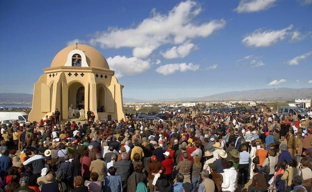 En la ermita de Torregarcía se celebra la romería en honor a la Virgen del Mar, patrona de la ciudad de Almería./EFE