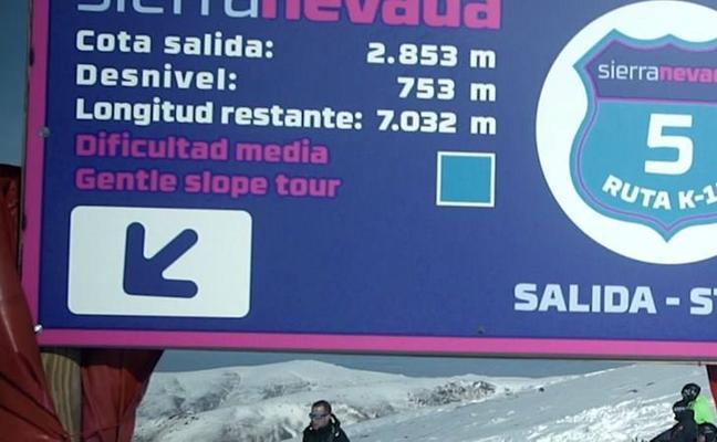 Sierra Nevada roza los 100 km esquiables y estrena el recorrido K12