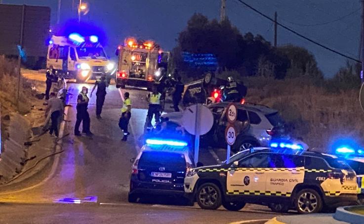 Así ha sido el accidente entre un coche de policía y unos narcos en Algeciras