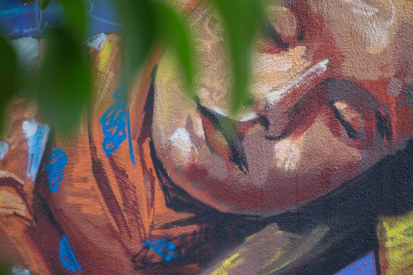 Detalle del grafiti.