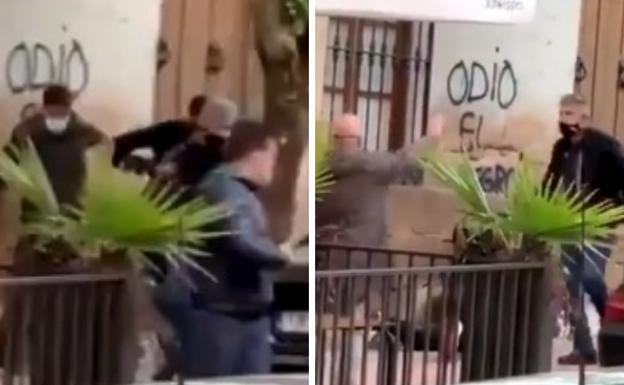 imágenes de la agresión en Linares