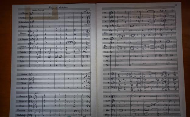 La partitura original y oficial de Manuel Castillo.