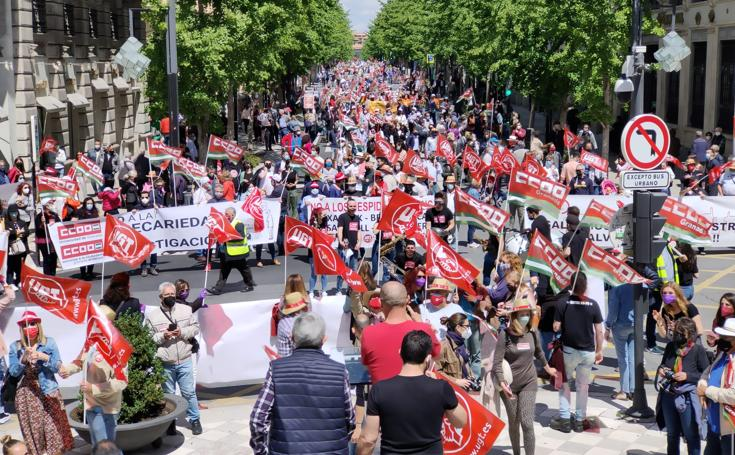 Granada sale a la calle en el Día del Trabajo