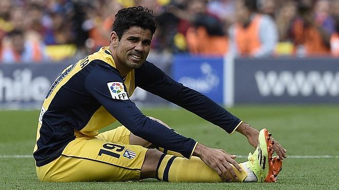 Diego Costa recae de su lesión y es duda para Lisboa