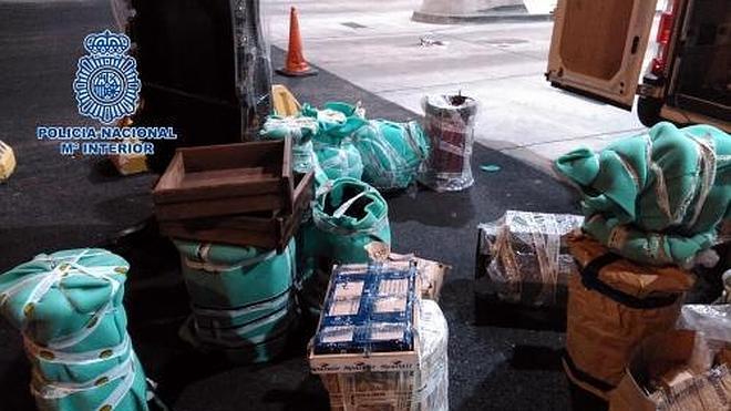 Ocho detenidos por introducir dos toneladas de hachís en Algeciras