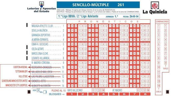La Quiniela retira los partidos de Segunda por el 'caso Murcia'