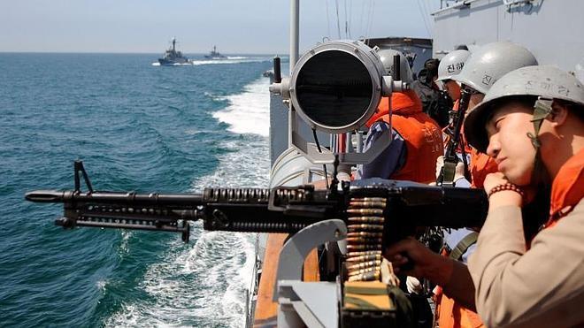 Patrulleras de ambas Coreas intercambian disparos en el Mar Amarillo