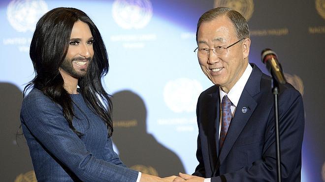 Conchita Wurst y Ban Ki-moon, juntos contra la homofobia