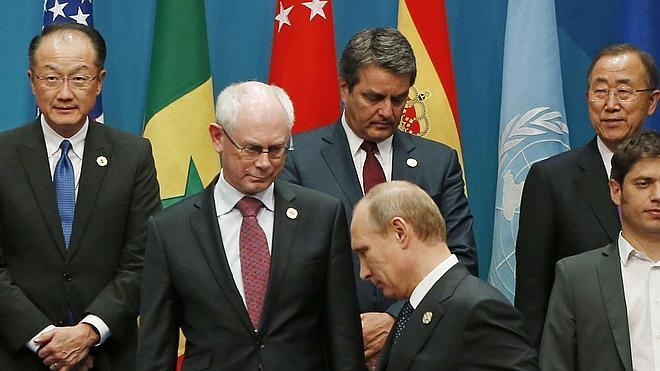 Putin adelanta su salida del G-20 a causa de las críticas por la crisis de Ucrania