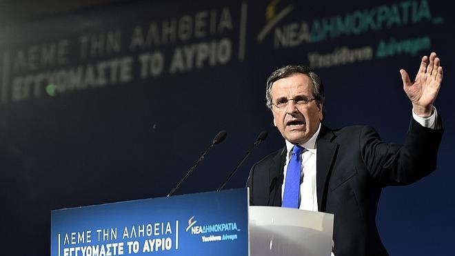 Samaras lanza un último alegato para evitar «el accidente Tsipras»