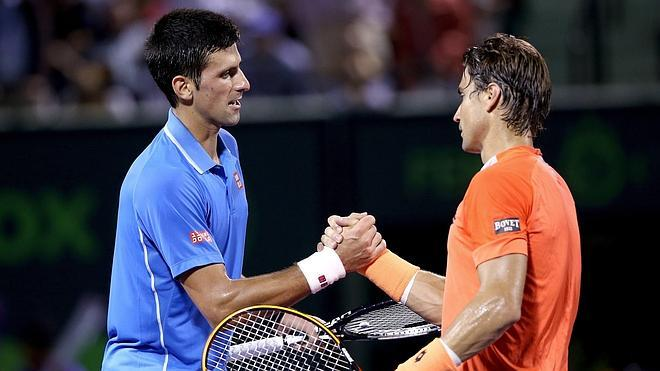 Djokovic frena a Ferrer en cuartos