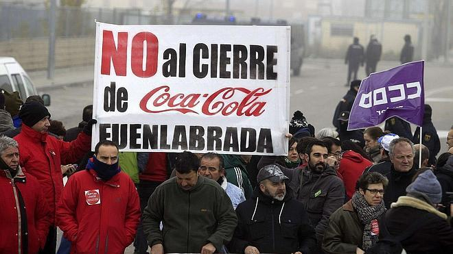 Coca Cola readmite a los empleados de Fuenlabrada, pero la planta será sólo logística