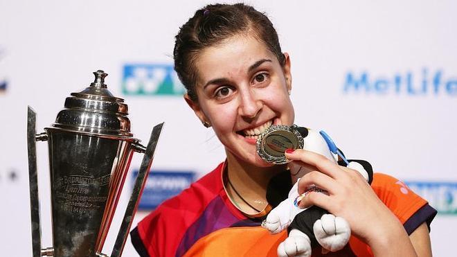 Carolina Marín conquista su tercer título de la temporada