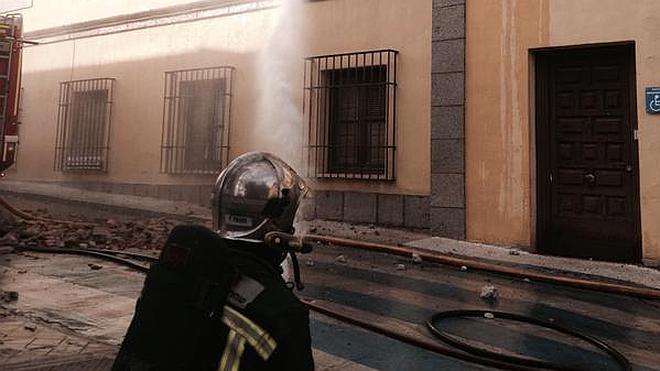 El Ayuntamiento de Brunete, en llamas