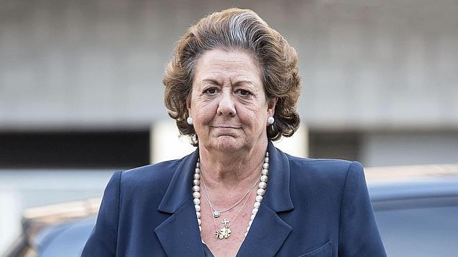 Rita Barberá, muy enfadada porque el PP no la ha defendido «como se merece»