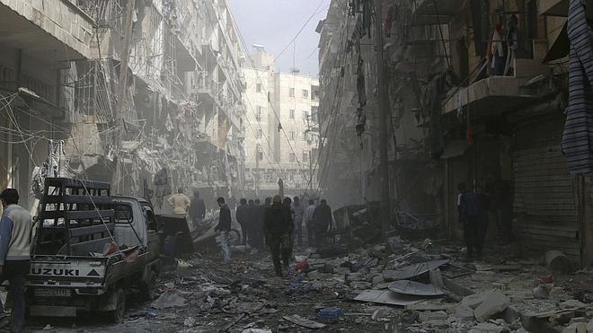 Rusia intensifica los bombardeos en Siria a pocas horas del inicio de la tregua