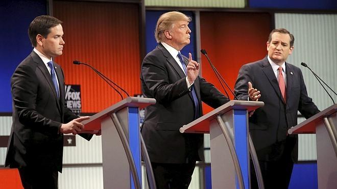 Rubio y Cruz siguen la línea marcada por Romney y se lanzan contra Trump