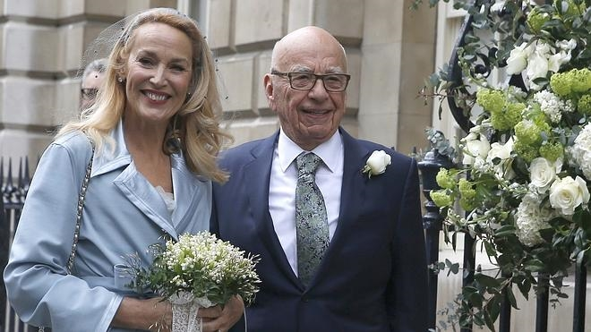 Boda religiosa de Rupert Murdoch y Jerry Hall