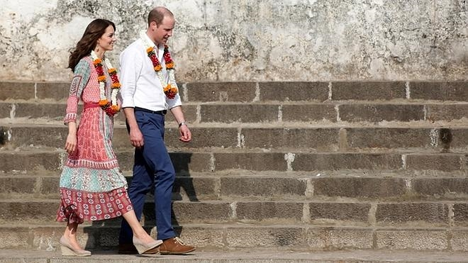 Los looks de Kate Middleton en la India (y el recuerdo de Lady Di)