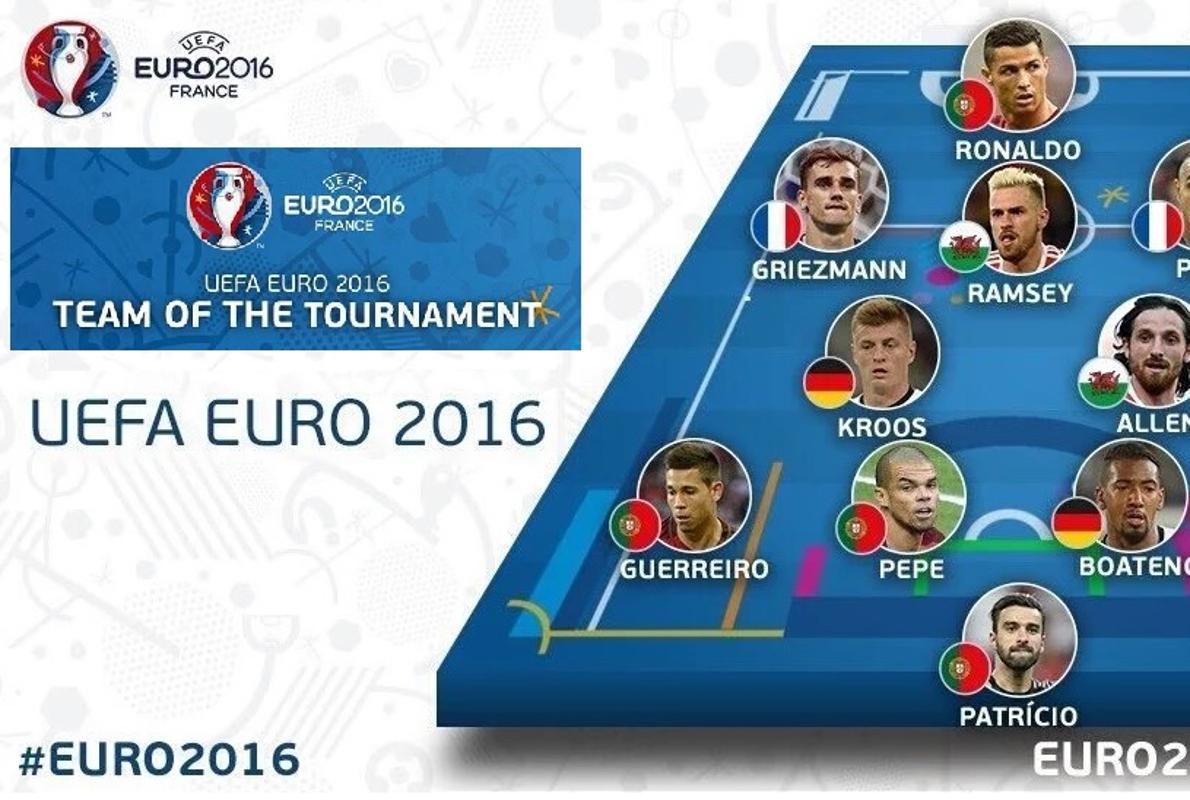 UEFA deja fuera a Bale del mejor once del torneo
