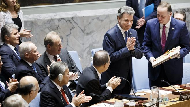 Santos entrega el acuerdo de paz con las FARC al Consejo de Seguridad de la ONU