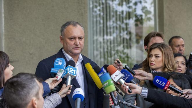El socialista Igor Dodon se perfila como ganador de las presidenciales moldavas