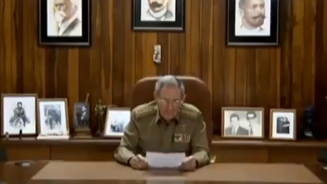 Raúl Castro anuncia la muerte del líder cubano