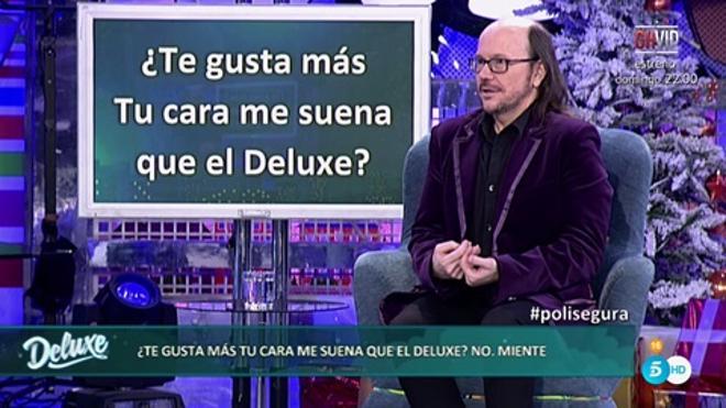 Sálvame Deluxe mantiene el liderato con Santiago Segura