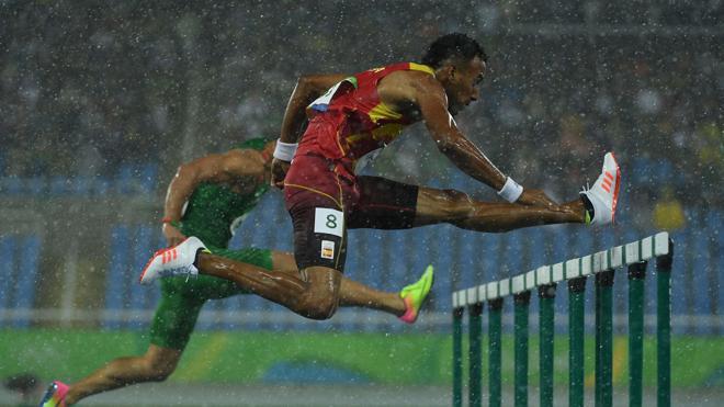 Orlando Ortega bate el récord de España de 60 metros vallas