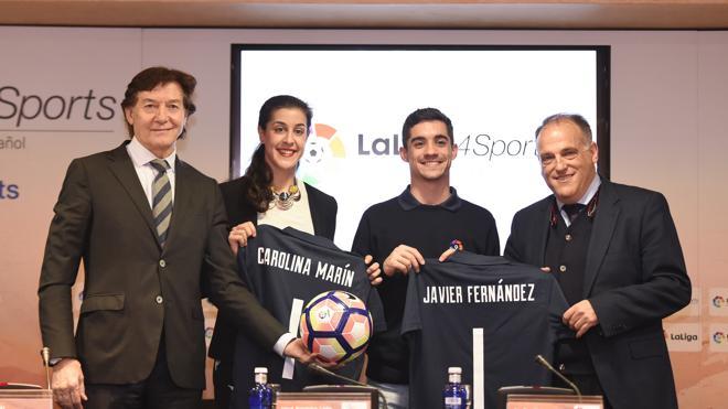 Javier Fernández y Carolina Marín, nuevos embajadores de LaLiga