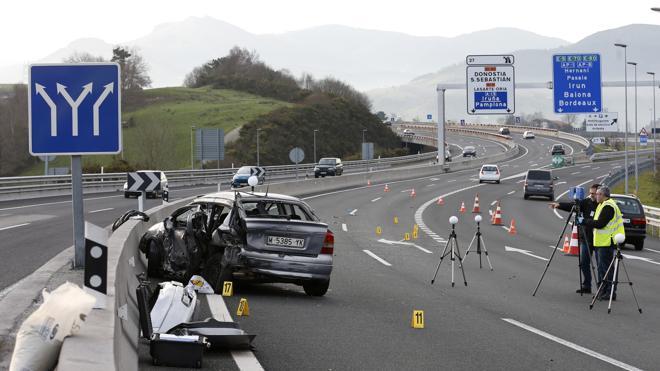 Dos fallecidos y ocho heridos en un accidente de tráfico en Usúrbil (Guipúzcoa)