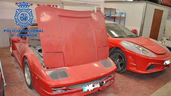 La Policía desmantela un taller clandestino de vehículos de Ferrari y Lamborghini