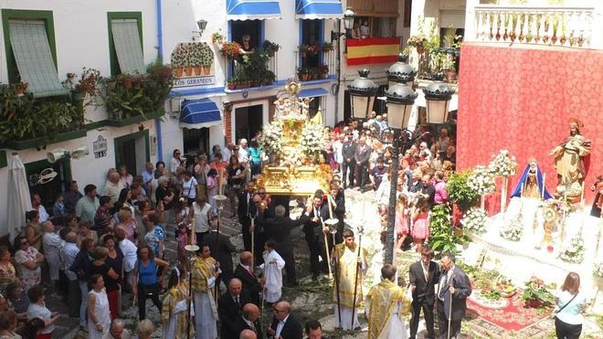 La fiesta del Corpus Christi llena de procesiones la provincia