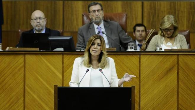 Susana Díaz saca pecho contra la corrupción y arremete contra Rajoy