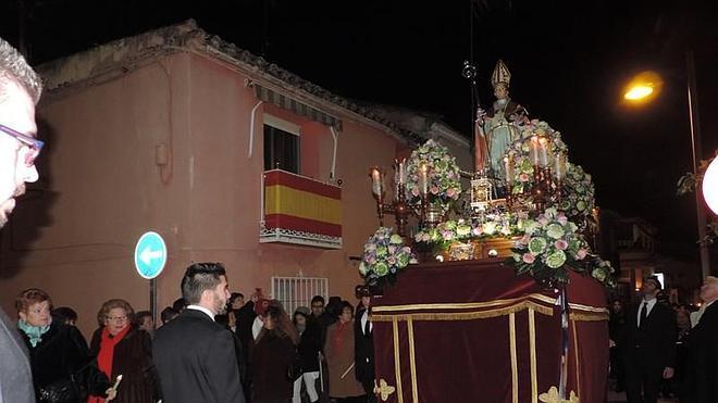 San Ildefonso salió en procesión