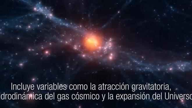 Fascinante: Así se forma un cúmulo de galaxias