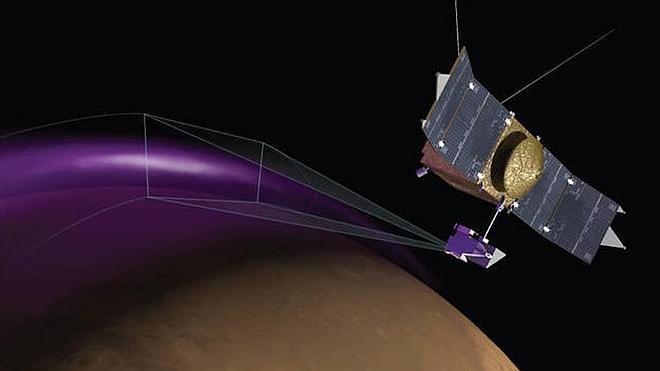 La NASA halla auroras intensas y una enigmática nube de polvo en Marte