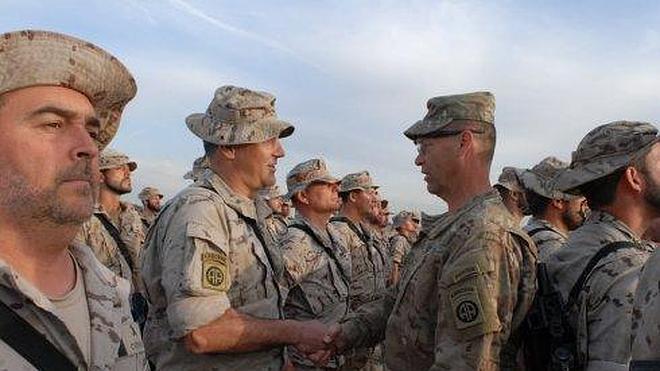 Los legionarios en Irak reciben el 'parche' de combate