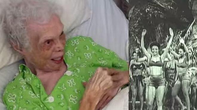 La tremenda emoción de la bailarina de 102 años que se ve bailar por primera vez