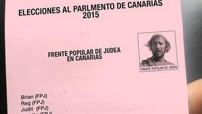 ¿Y si el Frente Popular de Judea se presentara a las elecciones autonómicas canarias?