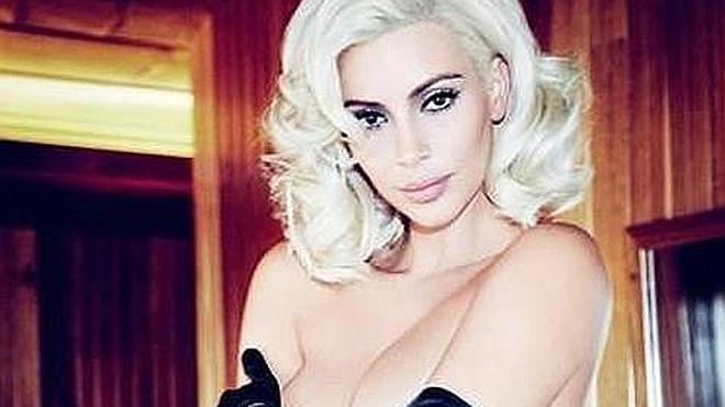 Kim Kardashian, en top less a lo Marilyn Monroe en la portada de Vogue