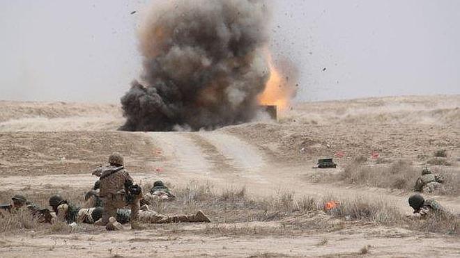 Éxito de los militares iraquíes adiestrados por la Legión en unas maniobras en Besmayah