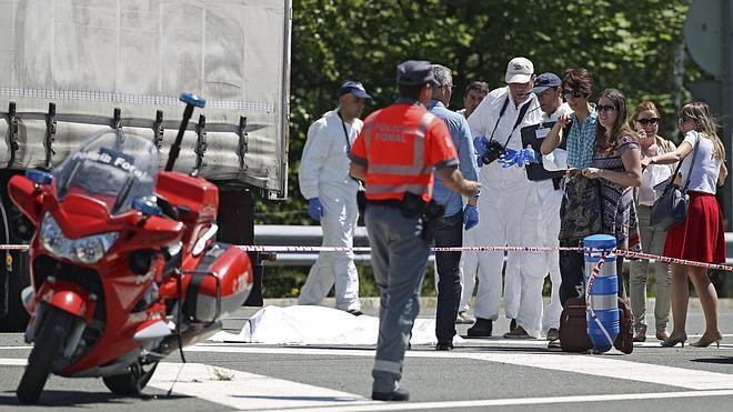 Un ertzaina mata a tiros a un camionero de Motril en Navarra