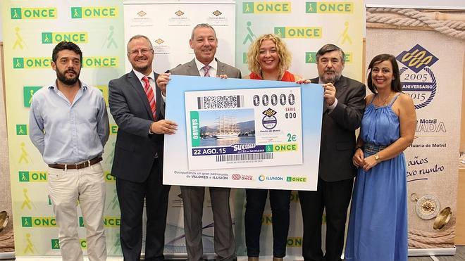 La imagen del puerto de Motril se plasmará en 5,5 millones de cupones de la ONCE