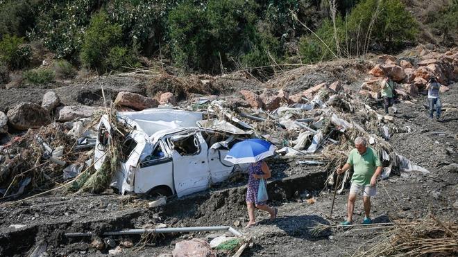 Los fallecidos en la riada hallados ayer vivían en una tubería