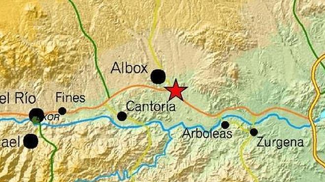 Sentido un seísmo de 3,2 grados en Albox, Cuevas de Almanzora y Arboleas