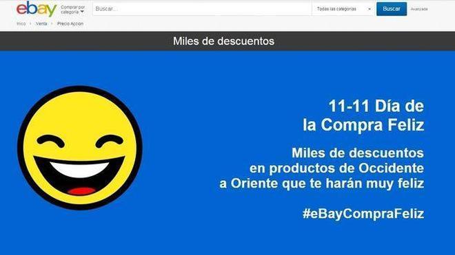eBay lanza el 'Día de la compra feliz' para competir con el Black Friday chino