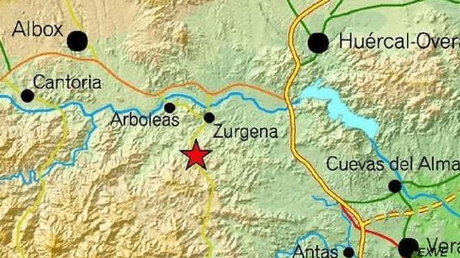 Un terremoto de 2,7 grados se deja sentir en Zurgena