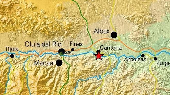 Sentido un terremoto de 3'1 en Cantoria